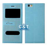 Dual View Window Flip Leather Case for iPhone 6 Plus
