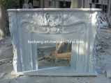 Carved White Fireplace for Interior Design/Home Decoration