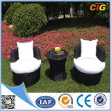 White and Black 3PC Outdoor Garden Line Patio Furniture