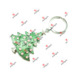 Metal Green Christmas Tree Keyring Gifts for Handbag Decorations (CKD51126)