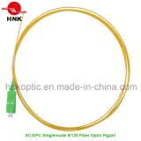 Singlemode 9/125 PVC LSZH Sc APC Fiber Optic Pigtail
