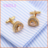 VAGULA Fashion Rhinestone Gold Plated Cuffs for Men