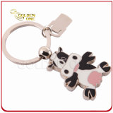 Customized Novel Cow Shape Soft Enamel Metal Keychain