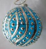 Blue Color Christmas Glass Ball