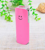 2017 Hot Sale Smile Face Power Bank Portable with LED Torch