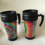 Double Wall Plastic Thermal Coffee Mug with Leak Proof Lid