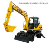 China Hot Sale Yellow 0.3m3 Bucket New Small Wheel Excavators