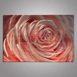 Pink Rose Metal Craft / Aluminum Painting for Decor
