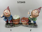High Quality Super Cute Gnome Planter Garden Ornament Natural Polyresin