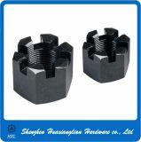 Grade4.8 Zinc Plated Steel Hex Slot Castel Nut Kee Nut