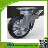 Heavy Duty Rubber Wheels Swivel Castor with Total Brake
