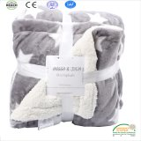 Thick Double Layer Winter Sheep Woolen Blanket Flannel Blankets