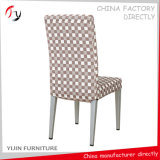 Modern Aluminum Silver Base Powder Coating Fabric Dining Chairs (FC-81)