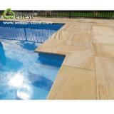 Honed Finished Bullnose Edge Beige Sandstone Pool Coping