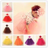 Baby Hollow Flowers Headband and Weil Skirt Suit