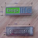 Custom Logo Stamping Painted Brass Metal Magnet Name Tag
