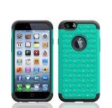 Gypsophila Diamond Plastic Silicone Combo Case for iPhone 6