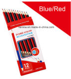 Bule and Red Color Pencil for Office Supply