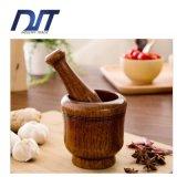 Hand Made Eco Friendly Natural Wood Garlic Pugging Pot