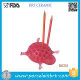 Pink Tortoise Ceramic Table Decorative Pen Holder