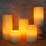 LED Christmas Deocrative Candles Brushed Pillar Candles