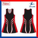Healong Sportswear Custom Team Set Cheap Netball Uniforms Dresses Skirts for Sale
