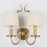 Hot Sale Iron Wall Lamp with Fabric Shade (SL2016-2B)