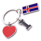 New Custom Metal Souvenir Iceland Keyring
