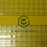 6-7mm Wired Patterned Figure Glass with AS/NZS 2208