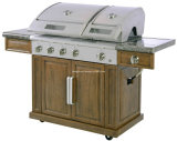 Split Lid 5 Burner BBQ Gas Grill with Side Burner (JXG6205W)