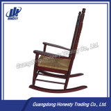 Cy2272 Wood Rocking Chair with Rattan