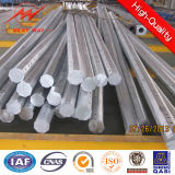 Color Painted Galvanized Electric Steel Pole with Anchor Bolts