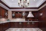 European Style Luxury Solid Wood Cherry Kitchen Cabinet