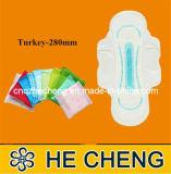 Ultra Thin Women Sanitary Napkin with Wings (Turkey-280)