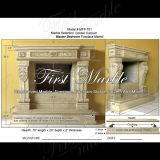 Golden Travertine Fireplace for Furniture Mfp-701