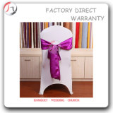 White Flexibility Fabric Dancing Hall Chair Cover (YT-28)