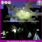 Hot LED Light Inflatable Snowflake for Pary Christmas Decoration