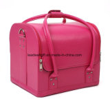 Removable PU Leather Cosmetic Makeup Vanity Box Jewelry Saloon Case