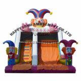 Full Printing Clown Theme Inflatable Slide