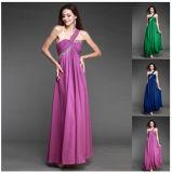 Cheap Discount Long Chiffon Evening Prom Dresses (DS007)