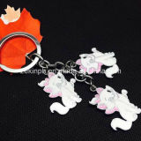 Custom Cute Cat Shape Metal Keyring Set