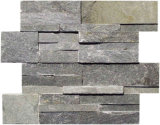 Natural Slate Cultured Ledgestone Stacked Stone for Wall Cladding