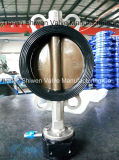 All CF8/Ss316 Stainless Steel EPDM Liner Wafer Butterfly Valve with Gearbox Operate
