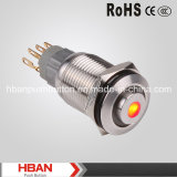 Hban 16mm High Head Push Button Switch with DOT LED Light