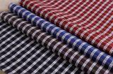 Poly/Cotton 100GSM Yarn Dyed Square Checks Shirt Fabric