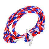Fashion Jewelry Mens Navy Nautical Rope Anchor Bracelet