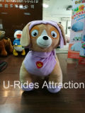 Purple Color Dog rides / Electric Animal Walking For Adult And Kids