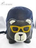 Boys Bear Head Navy Blue Polyester Backpack