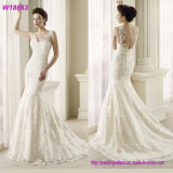 Wholesale Beaded Lace Bridal Wedding Dress/Gown with Fish Tail W18563