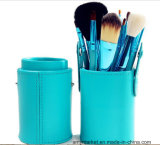 Colorful Goat Hair Cylindrical Beauty Makeup Brushes 12 PCS